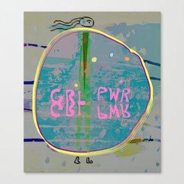 GRL PWR, Alissia World Canvas Print