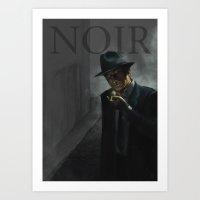 noir Art Prints featuring Noir by Abel Fdez