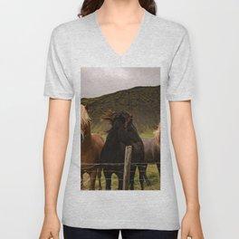 Horses 3 photo Unisex V-Neck