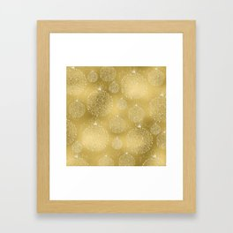 Merry christmas- christmas balls on gold pattern Framed Art Print