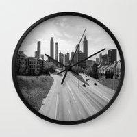 atlanta Wall Clocks featuring Atlanta by Trey Visions