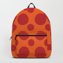 RED DOTS ON A ORANGE BACKGROUND Abstract Art Backpack