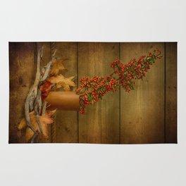 Autumn Still Life with Firethorn Rug