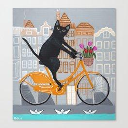 Amsterdam Bicycle Ride Canvas Print