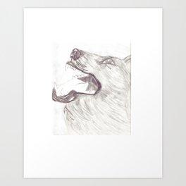Bark at the earth Art Print