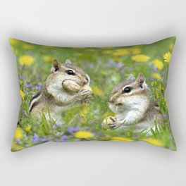 Chipmunk Generosity Rectangular Pillow