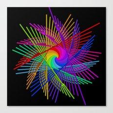 colors on black -2- Canvas Print