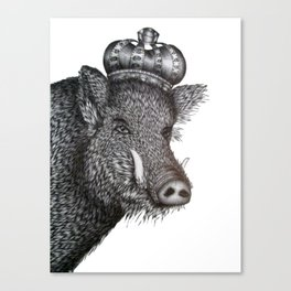 The Boar King Canvas Print