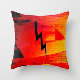 red bolt Throw Pillow