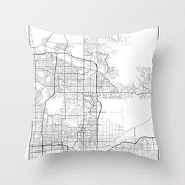 Minimal City Maps - Map Of Scottsdale, Arizona, United States Throw Pillow