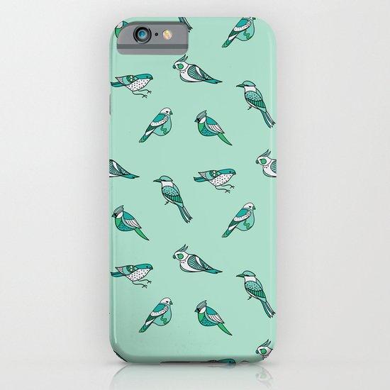 doodle birds - mint iPhone & iPod Case