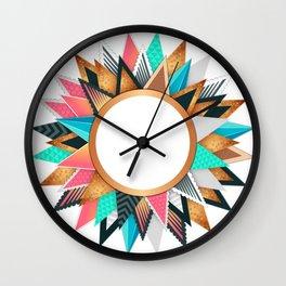circle frame colorful Wall Clock