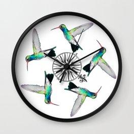 hummingbird wheel of time Wall Clock