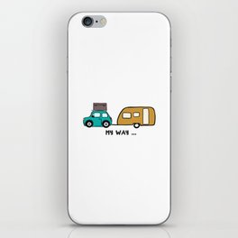 My way - travel with me iPhone Skin