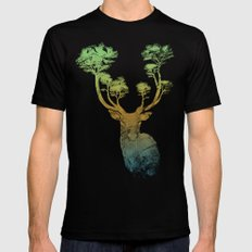 Summer Stag Black Mens Fitted Tee X-LARGE