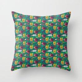Jetcat Pattern Throw Pillow