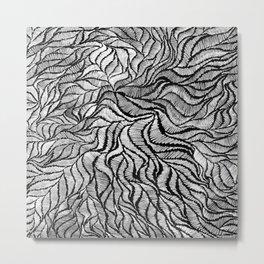 Blk embroidery sketch Metal Print