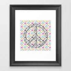 Peace and Guns Framed Art Print