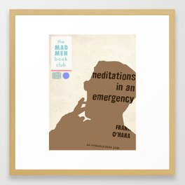 Mad Men Book Club-Meditations Framed Art Print