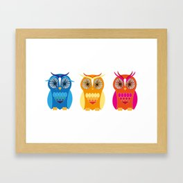 Sad, Happy, Angry Framed Art Print