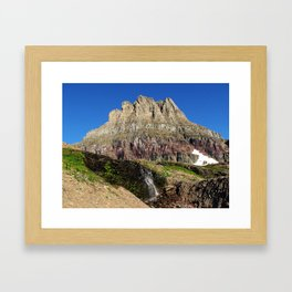 Clements Mountain Glacier National Park Nature Photography LCApplingPhotoArt Framed Art Print