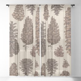Pinecones Sheer Curtain