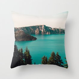 Dreamy Lake - Nature Photography Throw Pillow