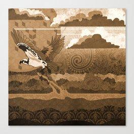 Osprey Monochrome Canvas Print