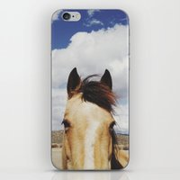 horse iPhone & iPod Skins featuring Cloudy Horse Head by Kevin Russ