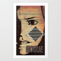 rogue Art Prints featuring Rogue by Joellart