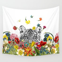 Happy Tiger Wall Tapestry
