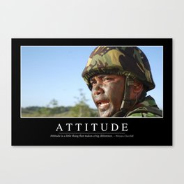 Attitude: Inspirational Quote and Motivational Poster Canvas Print