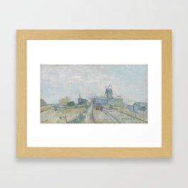 Montmartre: Windmills and Allotments Framed Art Print