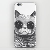 anaconda iPhone & iPod Skins featuring cool cat by Polkip