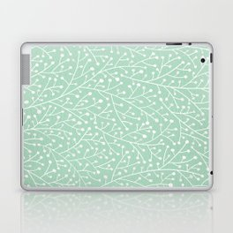 Mint Berry Branches Laptop & iPad Skin