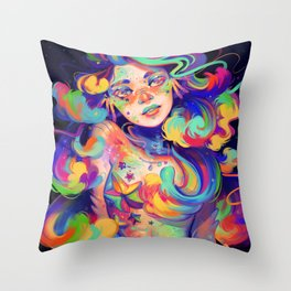 RainbowFish Throw Pillow