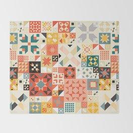 Modern Quilt Pattern Throw Blanket