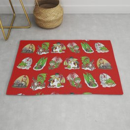 Christmas Pattern-Red Rug
