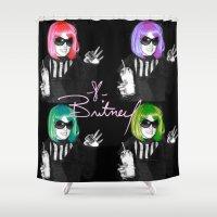 britney Shower Curtains featuring It's Britney B*tch by LA_Graffiti Decor
