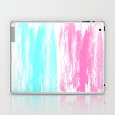 Summer Brushstrokes painting boho modern minimal abstract neon painting cool beach socal vibe Laptop & iPad Skin