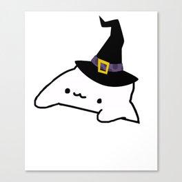 Halloween Bongo Cat Meme Canvas Print