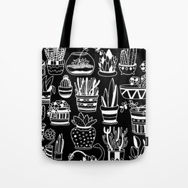Succulent Party (Night Version) Tote Bag
