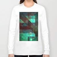 emerald Long Sleeve T-shirts featuring Emerald Nebulæ  by Aaron Carberry