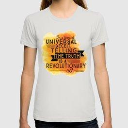 Revolutionary Act - quote design T-shirt