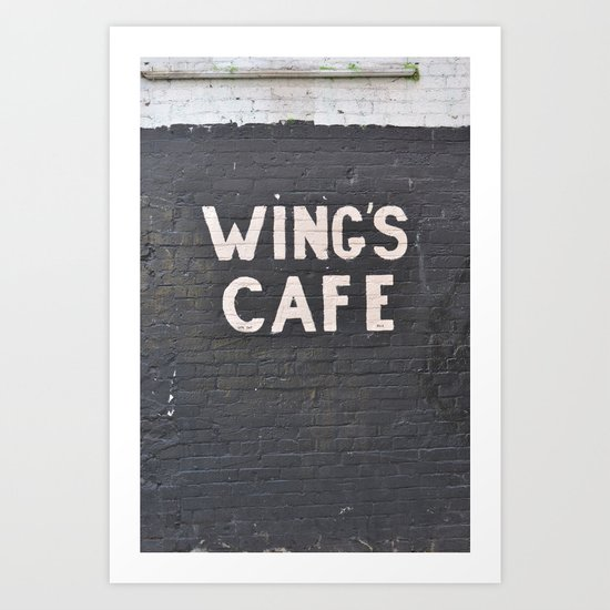 wings cafe Art Print