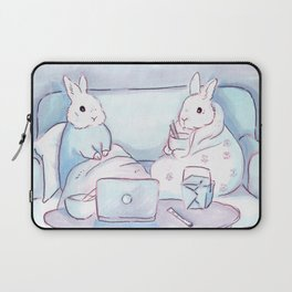 Binge-watching Bunnies Laptop Sleeve