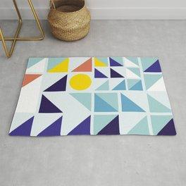 Sunny Geometric Regatta #pattern Rug