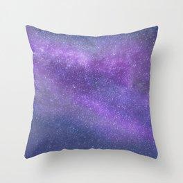Deep Purple Milky Way Stars Throw Pillow