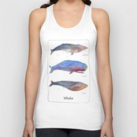 whales Tank Tops featuring Whales by Lene Daugaard