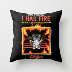 I Has Fire Throw Pillow